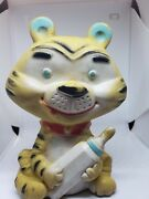 Antique Alan Jay Clarolyte Squeeze Squeak Rubber Toy Tiger Baby Bottle 7 Usa