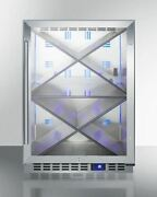 Summit Scr610blxcss 24and039and039 W Single Zone Built-in Commercial Wine Cellar