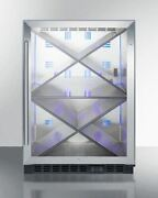 Summit Scr610blx 24and039and039 Wide Single Zone Built-in Commercial Wine Cellar