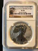 2012 S Eagle Ngc Rp70/pf70 Ucam Early Releases Us Mint 2 Coin Set Trolly Label