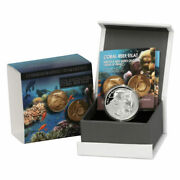 2012 Coral Reef Eilat Views Of Israel Silver Proof 2 New Sheqel Coin