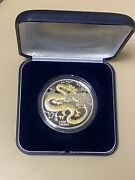 2000 Mongolia 🇲🇳 2500 Togrog Year Of The Dragon 🐉 5 Ounce .999 Silver Coin