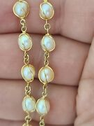 Vintage Antique 14k Yellow Gold Pearl In Cage Necklace Hand Made 16 Long