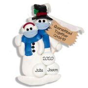 Quarantine Together Pandemic Polymer Clay Snowman Couple Ornament Deb And Co