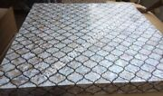 36 Marble Side Dining Table Top Mother Of Pearl Inlay Restaurant Decor E1428