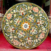 36 Green Marble Coffee Floral Table Top Marquetry Beautiful Hallway Decor Gifts