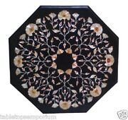 24x24 Italian Marble Coffee Table Top Abalone Inlay Marquetry Furniture Decors