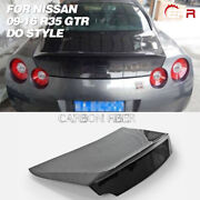For 09-16 Nissan R35 Gtr Do Style Double Side Carbon Fiber Rear Trunk Boot Lid