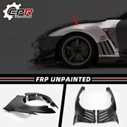 For Nissan Gtr R35 2013 Frp Unpainted Vs-style Front Fender With Louver Fin Kits