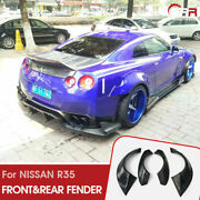 Tp-style Frp Unpainted Front And Rear Fender Flares Kits For 12-16 Nissan Gtr R35
