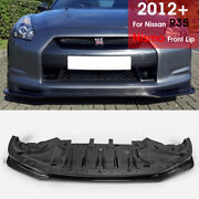 For 12-16 Nissan Gtr R35 On Late Nsm-style Frp Front Bumper Lip Body Kits