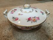 Vintage Sango China Large Serving Bowl And Lid Made In Occupied Japan