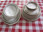 Large Lot 20pcs Somerset By Syracuse China Floral Dinnerware Set W Platters