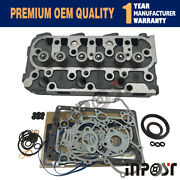 Cylinder Head Complete For Kubota D1105 B2400 B2410 With Valve Train Kit Gasket