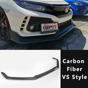 Vrs Style Carbon Fiber Front Lip Kits 5 Dr Hatch For Honda Civic Typ R Fk8