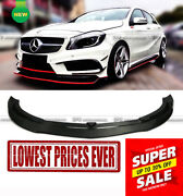 Revozport Rza290 Style Carbon Fiber Front Lip Amg Only For Mercedes Benz W176