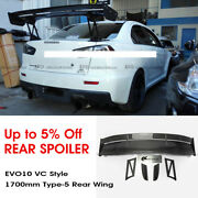 For Mitsubishi Evo X 10 Vc Style Carbon Fiber Trunk Rear Gt Spoiler Wing 1700mm