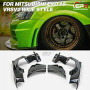 Vrs Ver2 Wide Style Frp Front Fender Flares Body Kits 4pcs For Mitsubishi Evo 10