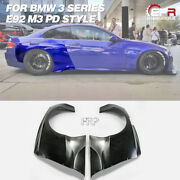 Rb Pd Style Frp Unpainted Widebody Rear Fender Mudguard Kits For Bmw M3 E92