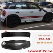 For Bmw Mini Cooper R60 Carbon Roof Spoiler Wing Kit Countryman Du-ag Style 2pcs
