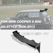 Ag Style Carbon + Frp Rear Roof Spoiler Wing Kits - For 06-13 Mini Cooper S R56