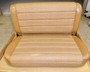 Nos Jeep Yj Wrangler Rear Fold And Tumble Bench Seat Spice Tweed 1987-1995