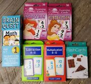 Math Flash Cards Sets Brain Quest 1st Grade Addition Subtract Multiply Division