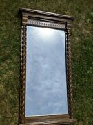 Ethan Allen Royal Charter Collection Oak Console Hall Table Mirror