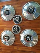 1966 Chrysler 300 14 Set Of 4 Hubcaps Hub Caps Cap And Two Spinners Nice Oem