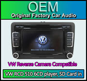 Vw Rcd 510 With Reverse Camera Input Vw Passat Touchscreen Stereo 6cd Player