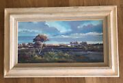 Original Donald A Peters Vintage Oil Western Scene Wagon Train And039a New Dayand039