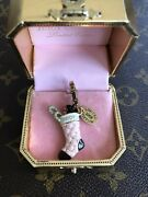 Juicy Couture Charm Pink Quilted Stocking Limited Edition 2008 With Scotty Dog