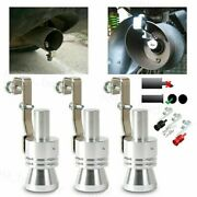Car Turbo Sound Whistle Exhaust Pipe Muffler Auto Blow-off Valve Simulator 4size