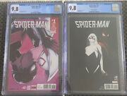 2-spider-man 12 Cgc 9.8 Reg. And Variant 125 Miles Morales And Spider-gwen Kiss