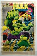Incredible Hulk Poster Herb Trimpe Art Marvelmania 1970 Rare Mail Only