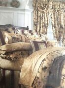 Waverly Luxury Collection Chianti Antique Gold Curtain Panels. New Old Stock
