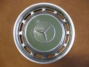 Four Mercedes Benz Green Hubcaps 1967 1968 69 70 71 1972 Wheel Covers Oem Z