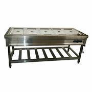 Brand New 110v Floor Type 5-well Buffet Food Warmer With Enhanced Stand Warmer