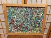 Original Abstract Painting Titled City Parks On A 16 X 20 Canvas