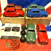 Vintage Chad Valley Wind Up Remote Control Cars Lot Of 6 Various Conditions