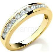 Certificated Diamond Eternity Ring Channel Set 18k Yellow Gold Large Size R-z