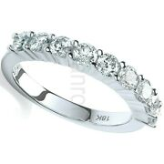 Certificated One Carat Diamond Eternity Ring 18k White Gold Large Sizes R - Z