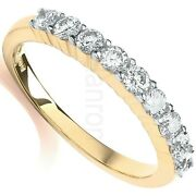 Certificated Diamond Eternity Ring 18k Yellow Gold Large Sizes R-z British Made