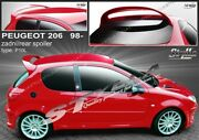 Spoiler Rear Roof Tailgate Peugeot 206 Wing Accessories