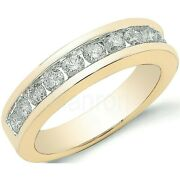 Certificated Diamond Eternity Ring Channel Set 1.00ct 18k Yellow Gold Size J-q