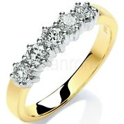 Certificated Diamond Eternity Ring 0.50 Carat 18k Yellow Gold Large Size R - Z