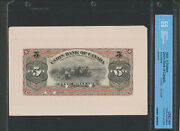 1903 The Union Bank Of Canada 5 Face Proof. 14-02p. Cccs Unc64. Scarce.