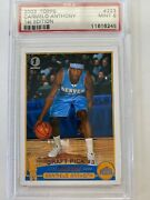 2003 Topps Draft Pick Carmelo Anthony Rookie Rc 223 Psa 9 Mint 1st Edition Rare