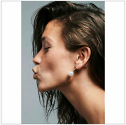 New Auth Sophie Bille Brahe Elipse Earring Akoya Pearl 14k Gold Iconic