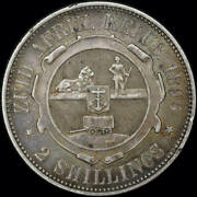 South Africa 1896 Silver 2 Shillings Km 6 About Vf
